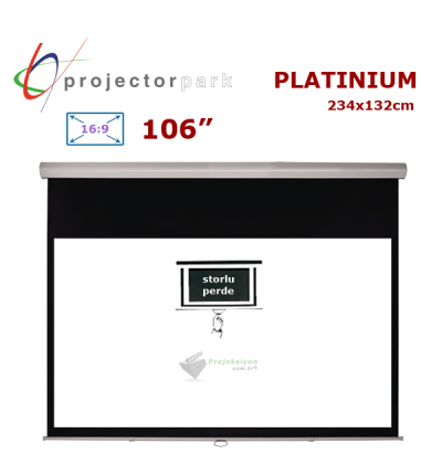 PROJECTORPARK Platinium Storlu Projeksiyon Perdesi (234x132cm)