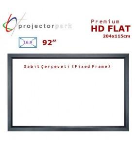 PROJECTORPARK HD Flat Sabit Çerçeveli Projeksiyon Perdesi (204x115cm)