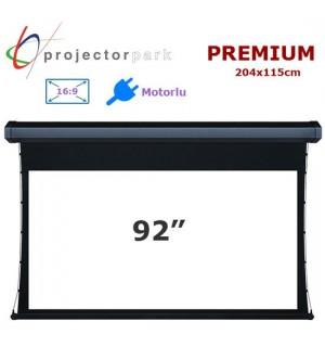 PROJECTORPARK Premium Motorlu Projeksiyon Perdesi (204x115cm)