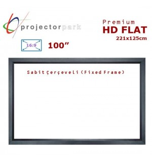 PROJECTORPARK HD Flat Sabit Çerçeveli Projeksiyon Perdesi (221x125cm)