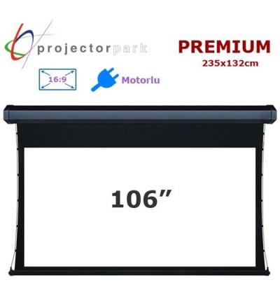PROJECTORPARK Premium Motorlu Projeksiyon Perdesi (235x132cm)