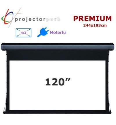PROJECTORPARK Premium Motorlu Projeksiyon Perdesi (244x183cm)
