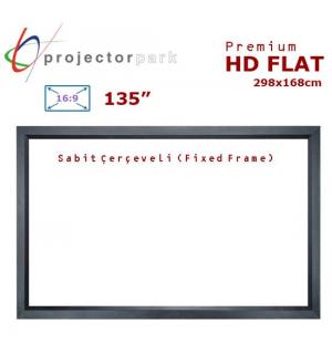PROJECTORPARK HD Flat Sabit Çerçeveli Projeksiyon Perdesi (298x168cm)