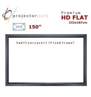 PROJECTORPARK HD Flat Sabit Çerçeveli Projeksiyon Perdesi (332x187cm)