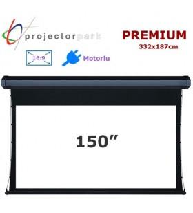 Projectorpark Premium Motorlu Projeksiyon Perdesi 332x187