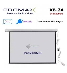 PROMAX SCREENS XB-24 Motorlu Projeksiyon Perdesi (240x200cm)
