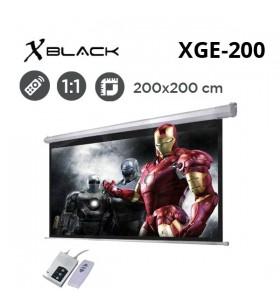 XBLACK XGE-200 Motorlu Projeksiyon Perdesi (200x200cm)