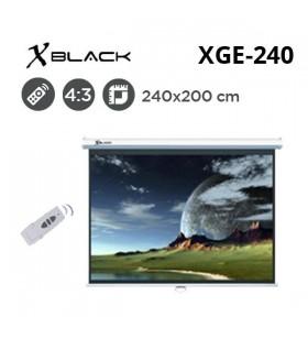 XBLACK XGE-240 Motorlu Projeksiyon Perdesi (240x200cm)