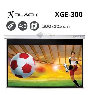 XBLACK XGE-300 Motorlu Projeksiyon Perdesi (300x225cm)