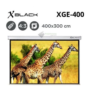 XBLACK XGE-400 Motorlu Projeksiyon Perdesi (400x300cm)