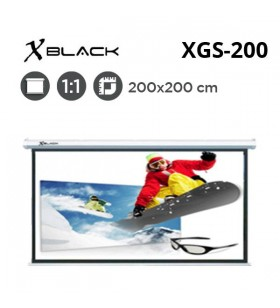 XBLACK XGS-200 Storlu Projeksiyon Perdesi (200x200cm)