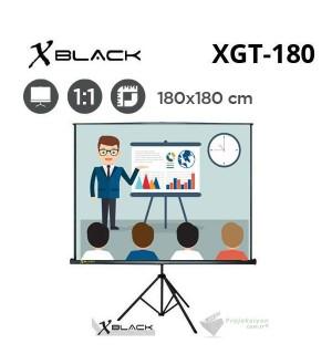 XBLACK XGT-180 Tripod Projeksiyon Perdesi (180x180cm)