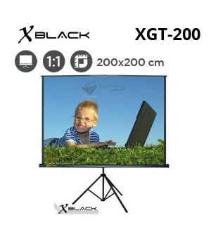 XBLACK XGT-200 Tripod Projeksiyon Perdesi (200x200cm)