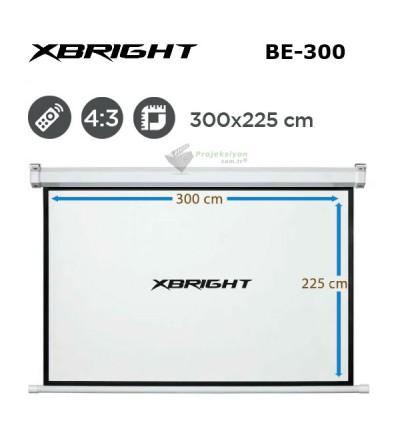 XBRIGHT BE-300 Motorlu Projeksiyon Perdesi (300x225cm)
