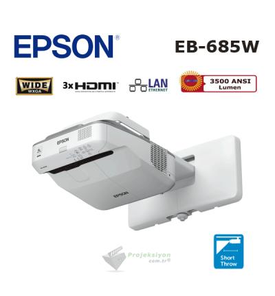 Epson EB-685W Ultra Kısa Mesafe Projeksiyon