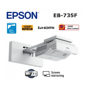 Epson EB-735F Lazer Projeksiyon Cihazı (Ultra Kısa Mesafe)