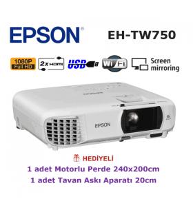 EPSON EH-TW750 KAMPANYA (240x200cm Motorlu Perde + Askı Hediyeli)