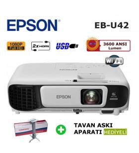 EPSON EB-U42 Full HD Kablosuz Projeksiyon (Tavan Askı Aparatı HEDİYELİ)