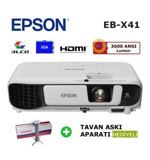 EPSON EB-X41 Projeksiyon Cihazı (Tavan Askı Aparatı HEDİYELİ)