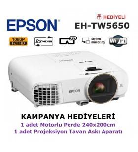 EPSON EH-TW5650 KAMPANYA (240x200cm Motorlu Perde + Askı Hediyeli)