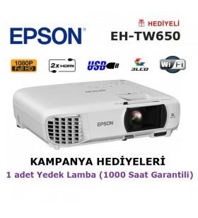 EPSON EH-TW650 Projeksiyon Cihazı (Yedek Lamba Hediyeli)