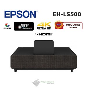 Epson EH-LS500B Lazer Ev Sinema Projeksiyonu (Android TV Edition)