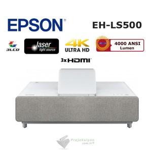 "Epson EH-LS500W Lazer Ev Sinema Projeksiyonu + Epson ELPSC35 100"" Perde"