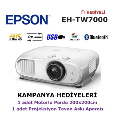 EPSON EH-TW7000 KAMPANYA (240x200cm Motorlu Perde + Askı Hediyeli)