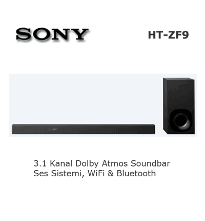 SONY HT-ZF9 Soundbar Ses Sistemi Dolby Atmos 3.1 Kanal