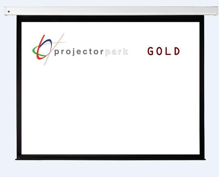 projectorpark gold motorlu projeksiyon perdesi