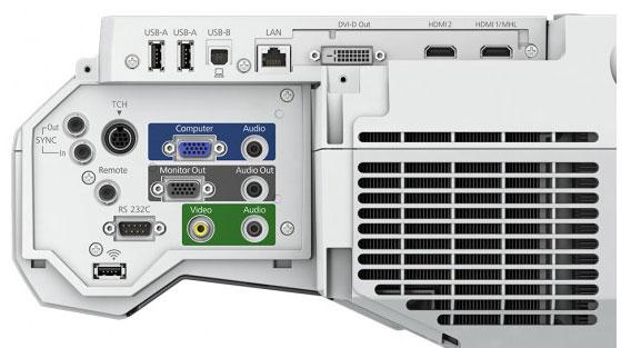 epson eb-1470ui kisa mesafe interaktif projeksiyon cihazi arka panel bağlantılar