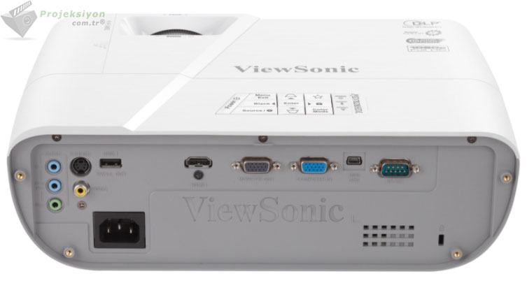 viewsonic pjd7828hdl full hd projeksiyon cihazı arka panel
